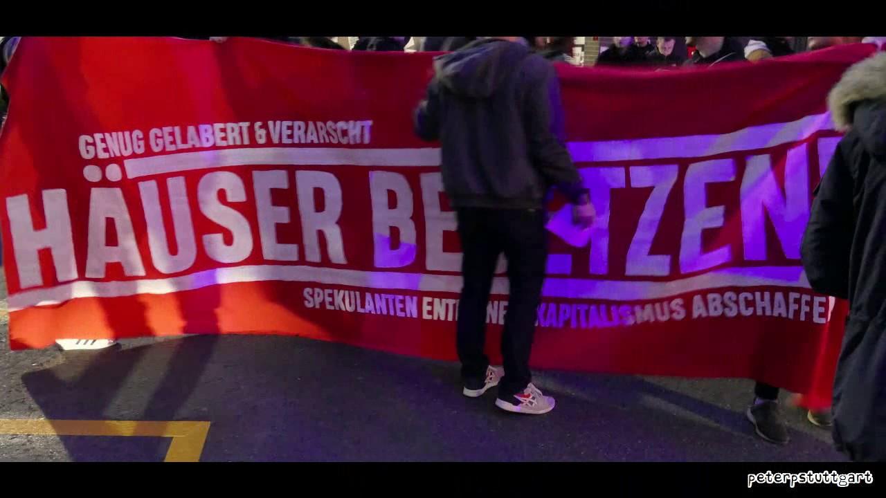 #stuttgart #forst140 demo wegen räumung 28.03.2019 #leerstandbeleben #druckimkessel  #besetzen